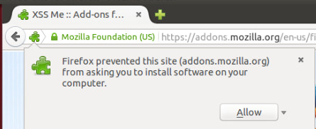 Allow Addon Firefox